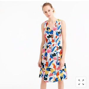 J.Crew A Line dress in morning floral